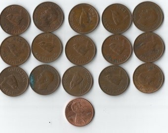 15 george VI farthings