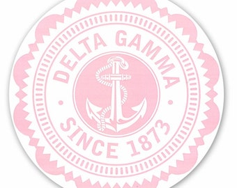 Delta Gamma Seal Sticker