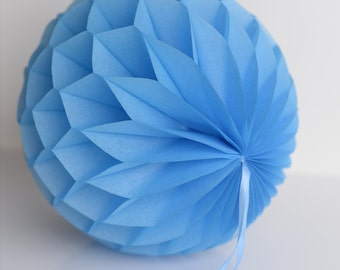 Pacific blue Tissue paper honeycombs -  hanging wedding party decorations