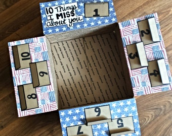 Deployment Care Package Decorating Kit- 10 Things I Miss About You