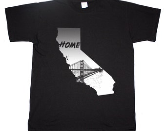 California Golden State San Francisco Home Golden Gate Bridge T shirt