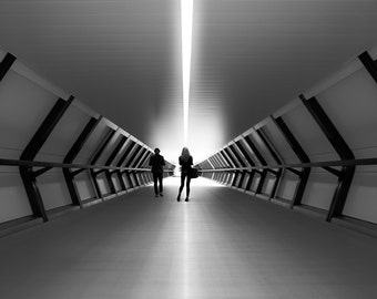 City Fine Art Photo: Tunnel Vision, Fine Art Black and White Photo from London City