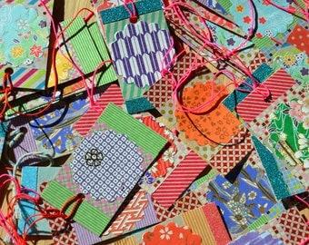Japanese Inspired Gift tags (glitter) - pack of 10