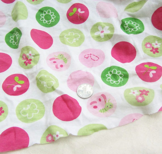 Cute animals kids baby print knit rib fabric by for Cute baby fabric prints