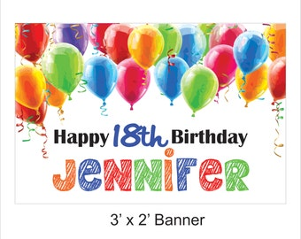 Happy Birthday Banner - Personalized