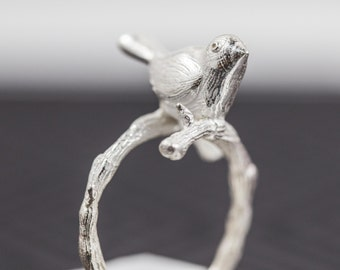 Handcrafted Sterling Silver Bird Ring
