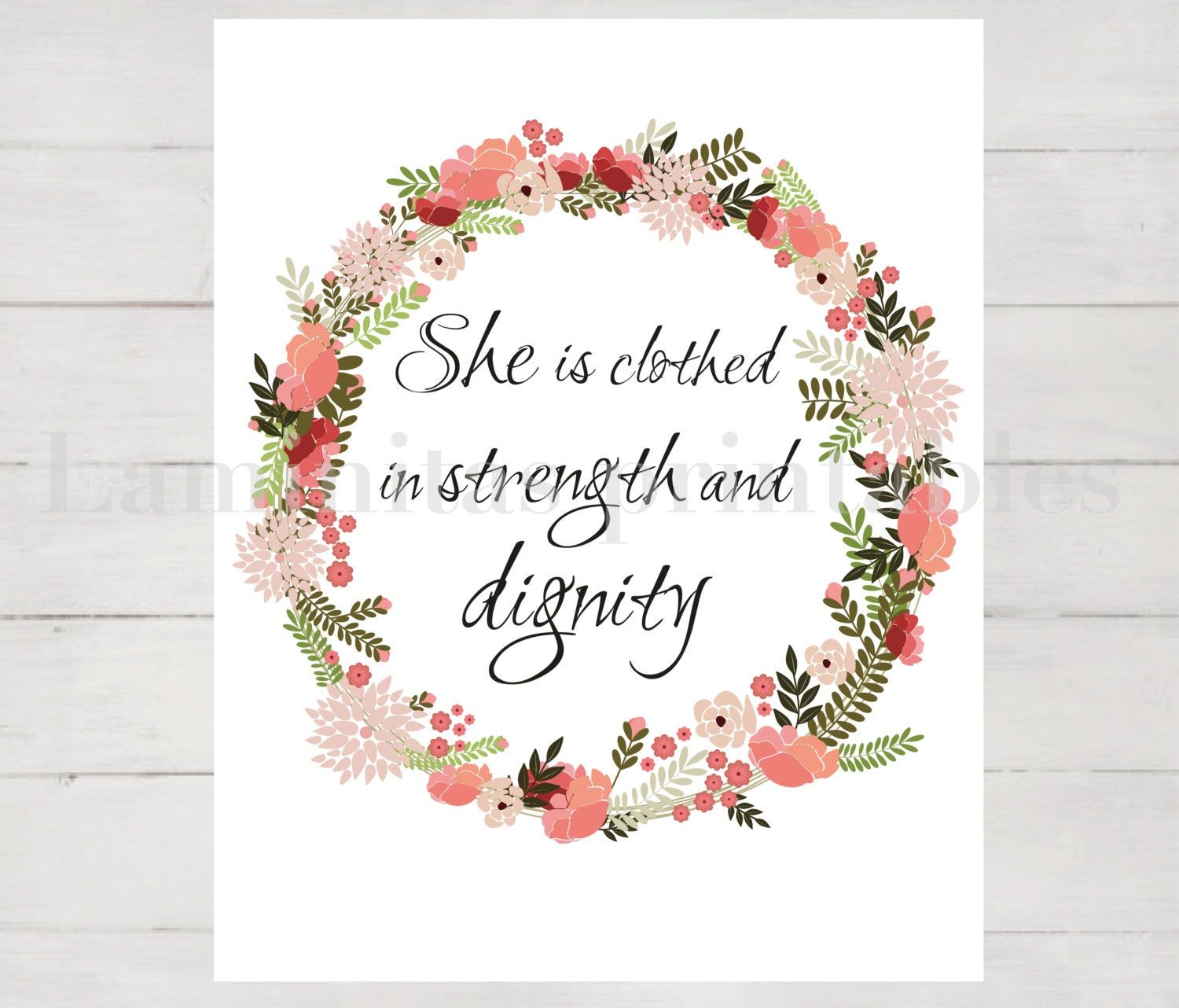 2014 She Is Clothed With Strength And Dignity: She Is Clothed In Strength And Dignity Bible Verse Bible