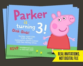 Peppa Pig Invitation - Peppa Pig Birthday Invitation- Peppa Pig