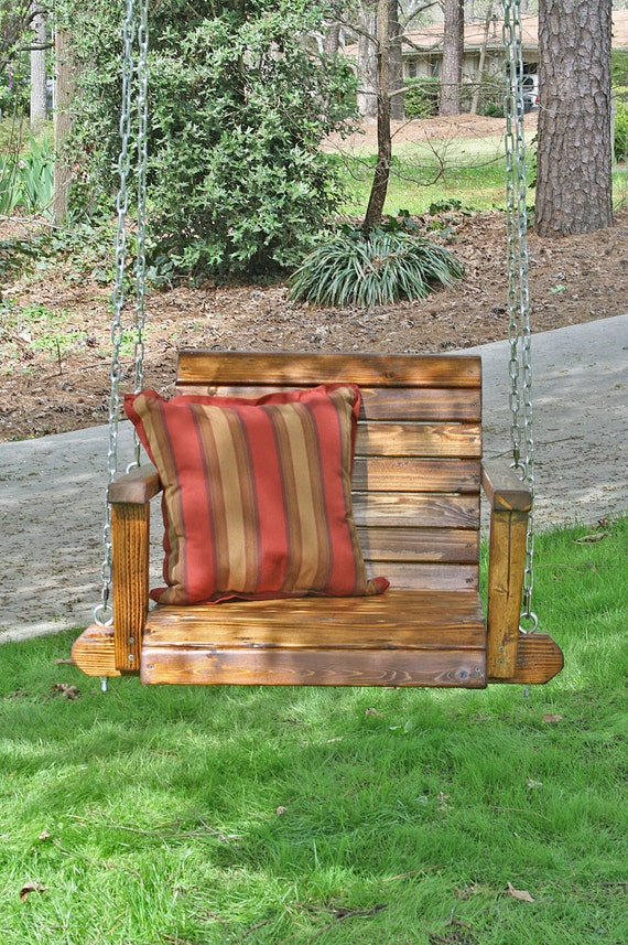 Christopher 39 s single seat garden or porch swing for Garden swing seat plans