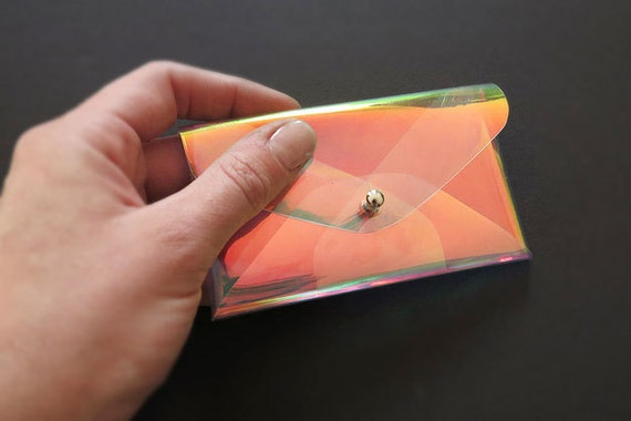 Case for business cards iridescent rainbow for Iridescent business cards