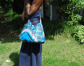 African Print sling Bag