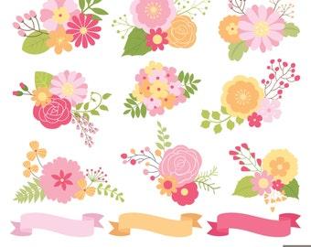 Flowers Bouquet Clipart, Floral Bouquet Clipart