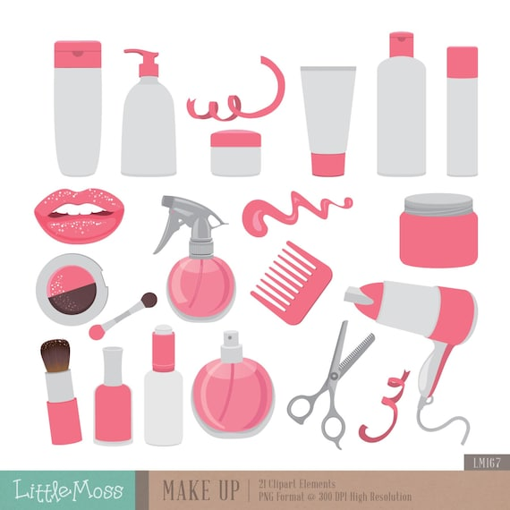 make up digital clipart cosmetic clipart