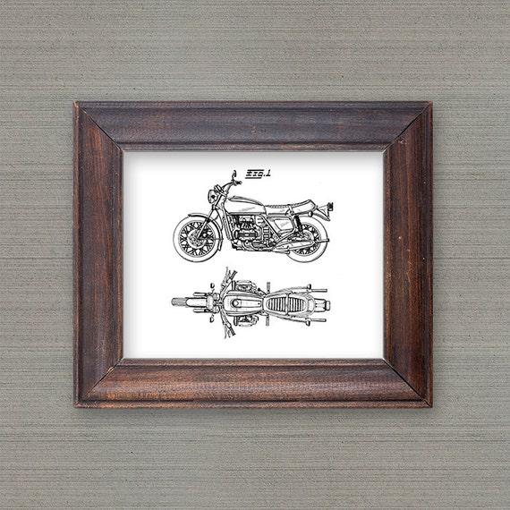 Home Decor Motorcycle Art Patent Art Patent Printable