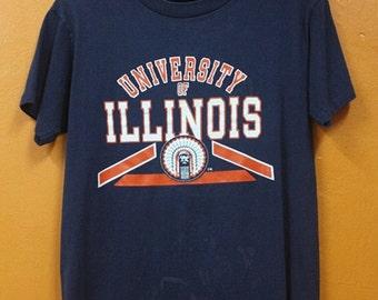 SALE Vintage Cheif University Of Illinois Shirt Free Shipping Next Item