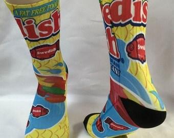 Custom Swedish  Fish  Socks