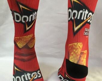 Custom Nacho Cheese Doritos  Socks