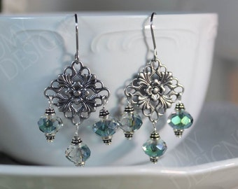 Filigree Shimmer Earrings