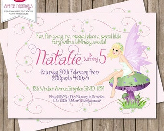 Fairy Party Invitation | Personalized | You Print