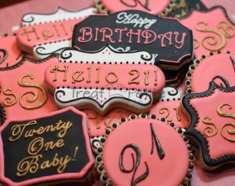 Birthday Cookies 21st