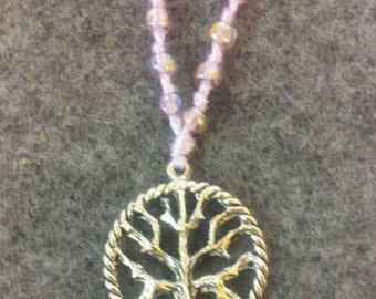 Hand Knotted Glass Bead Tree of Life Necklace