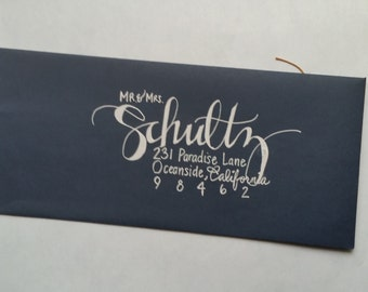Custom Hand Lettered Addressed Envelppes-Schultz