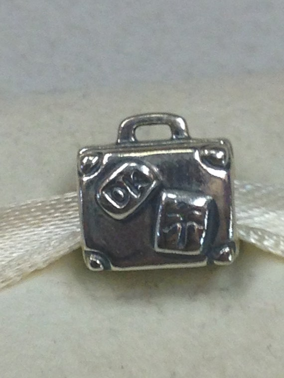 authentic pandora silver suitcase charm 790362 by