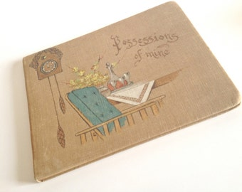 Vintage Possession Book with Blank Pages