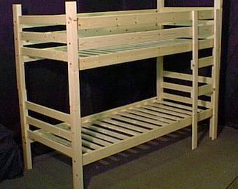 Chunky pine bunk beds