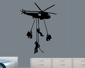 Helicopter Decal Etsy