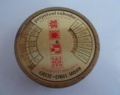Vintage Avon Calendar Tin with Soap 1980-2030