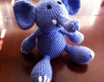 Eliot the Elephant - crochet amigurumi - hand crochet amigurumi - hand made amigurumi - elephant plushie