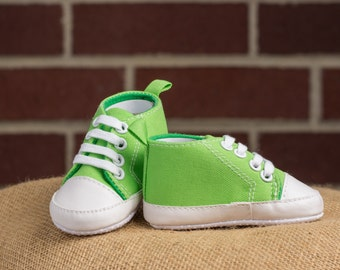 Baby Converse Shoes Lime Green