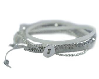 wrap bracelet 5 wrap double wrap bracelet Suede Boho Bracelet Gypsy Bracelet Boho chic wrap bracelet buttons  16