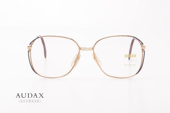 zeiss vintage eyeglasses frames mod 6809 4200 dg7 squared