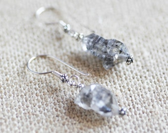 Tibetan Crystal earrings, sterling silver ear wires
