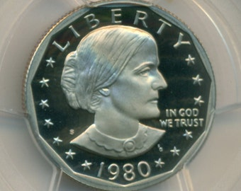 1980 S Susan B Anthony Dollar Proof PR70 DCAM PCGS