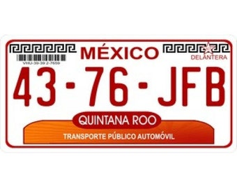 Mexico Quintana Roo Photo License Plate - LPO907