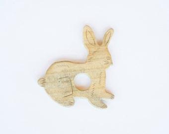 Bunny Rabbit Wooden Teether