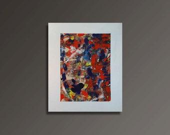 Lava Acryl Painting on Paper (50x60cm)