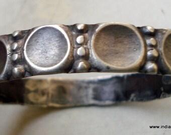 vintage antique tribal old silver bracelet bangle gypsy hippie