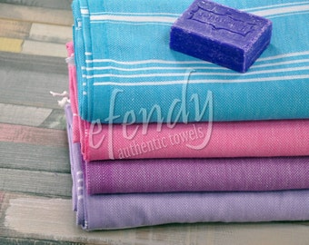 Turkish Towel Set of 4 Pure Cotton Towel Natural Soft Cotton Fashion Decor Beach Goods Outdoor Party Set Towel Cover Up Camping Fabric