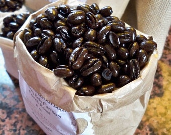 Cafe Passion, Organic Cameroon Peaberry Coffee, French Roast Coffee Lovers Gift, Coffee, Roasted Coffee Beans, Gourmet Coffee Lover, 1 lb