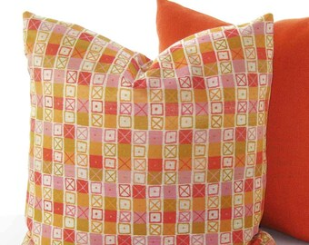 Designer Pillow Cover - Crosshatch by Charles and Ray Eames - 17x17, 19x19 - Made to Order by UPSTYLE