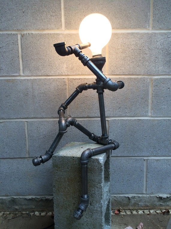 Items Similar To Metal Pipe Lamp Sculpture On Etsy