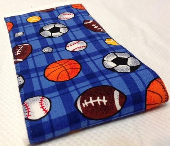 Burp Cloth - Sports- FREE Embroidery