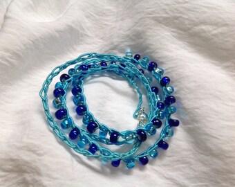 Beaded Crochet Bracelet Anklet