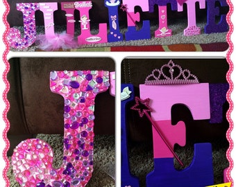 Princess Ballerina Wooden Letters