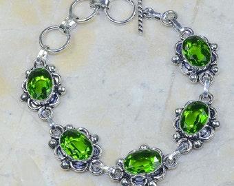 """Alluring Peridot Bracelet Size 7 1/2 - 8 3/4"""""""
