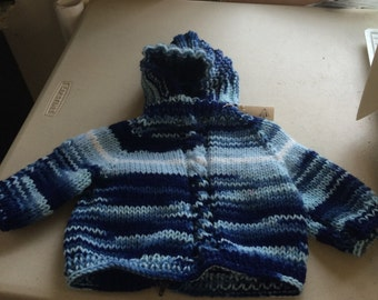 0-6 Months Hooded Baby Sweater